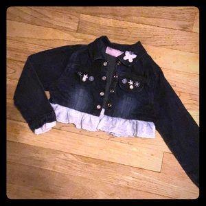 Other - Girls size 4 crop jean jacket